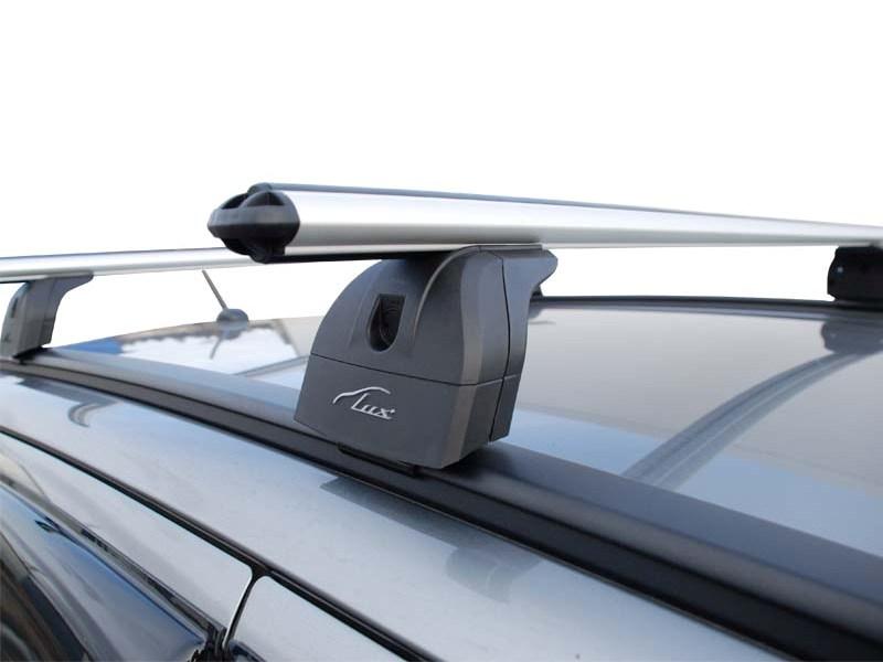 Багажник на крышу Hyundai Tucson 2016-..., Lux, аэродинамические дуги (53 мм) на интегрированные рейлинги