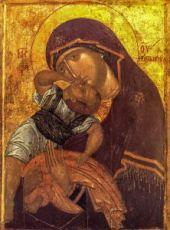 Взыграние Младенца (копия старинной иконы)