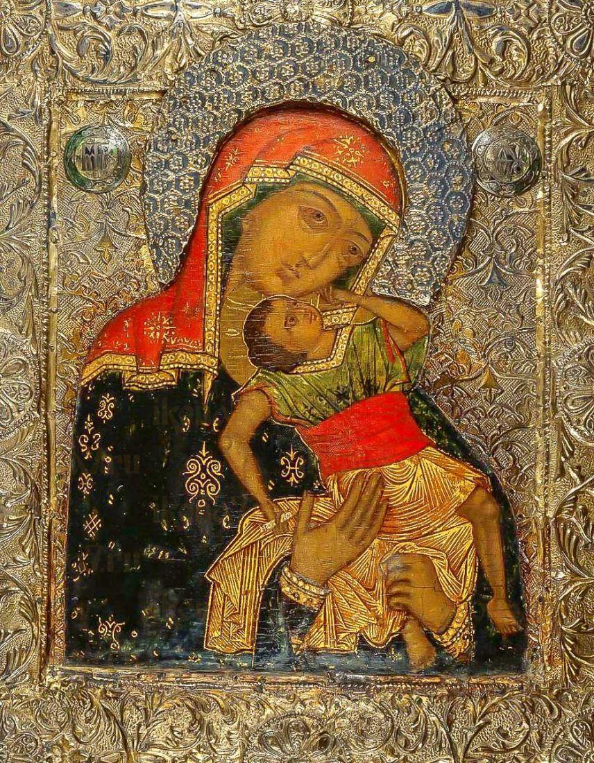 Икона Взыграние Младенца (копия 16 века)