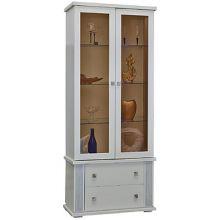 Шкаф с витриной ТУНИС  П343.22Ш эмаль