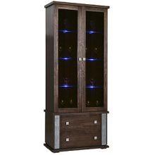 Шкаф с витриной ТУНИС  П343.22Ш венге