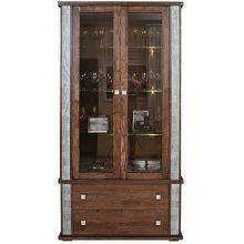 Шкаф с витриной ТУНИС  П343.20Ш венге