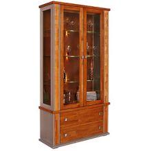 Шкаф с витриной ТУНИС  П343.20Ш  рустикаль+серый