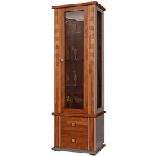 Шкаф с витриной ТУНИС  П343.19-1Ш  рустикаль+серый