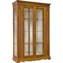 Шкаф с витриной МИЛАНА 5 П265.05 черешня