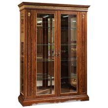 Шкаф с витриной МИЛАНА 5 П265.05 черешня с золочением