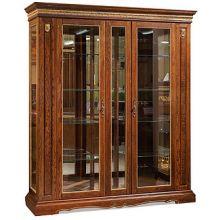 Шкаф с витриной МИЛАНА 11 П265.11 черешня с золочением
