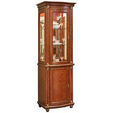 Шкаф с витриной ВАЛЕНСИЯ 1.1з  П.244.14.1 Р-46 с патинированием