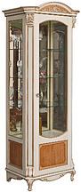 Шкаф с витриной АЛЬБА 8  П.485.08л, П485.08-01л эмаль