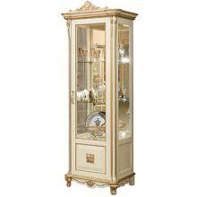 Шкаф с витриной АЛЕЗИ 10 ЛЮКС П.350.13л, П350.13-01л эмаль