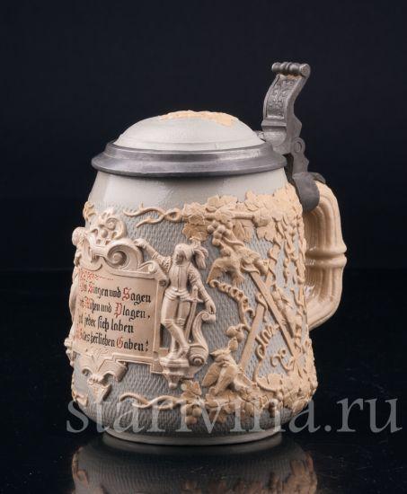 Изображение Виноградная лоза, 1/2 л, Mettlach, Германия, 1892 г