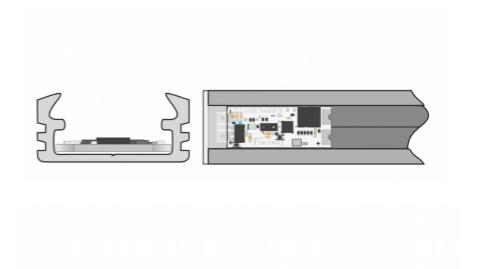 Сенсор для установки в П-образный профиль SDS v2