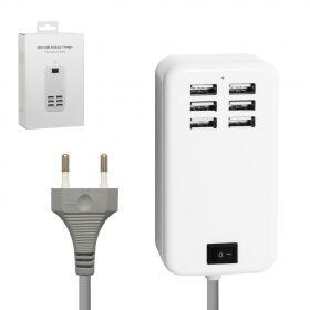 Зарядное устройство на 6 USB портов (6А)
