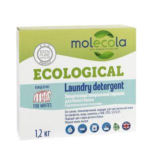 """""""Molecola"""" Стиральный порошок для белого белья с растительными энзимами, экологичный, 1,2кг, 9066"""
