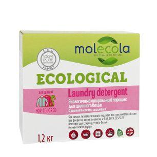 """""""Molecola"""" Стиральный порошок для цветного белья с растительными энзимами, экологичный ,1,2кг, 9073"""