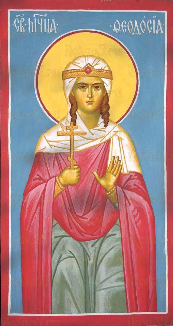 Феодора Амисийская (рукописная икона)