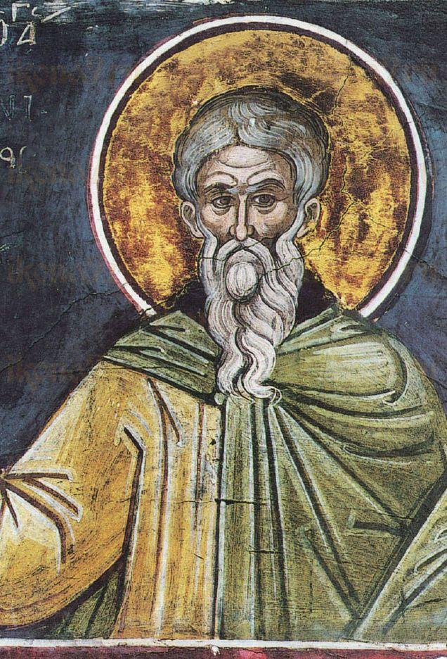 Феофан Сигрианский (рукописная икона)