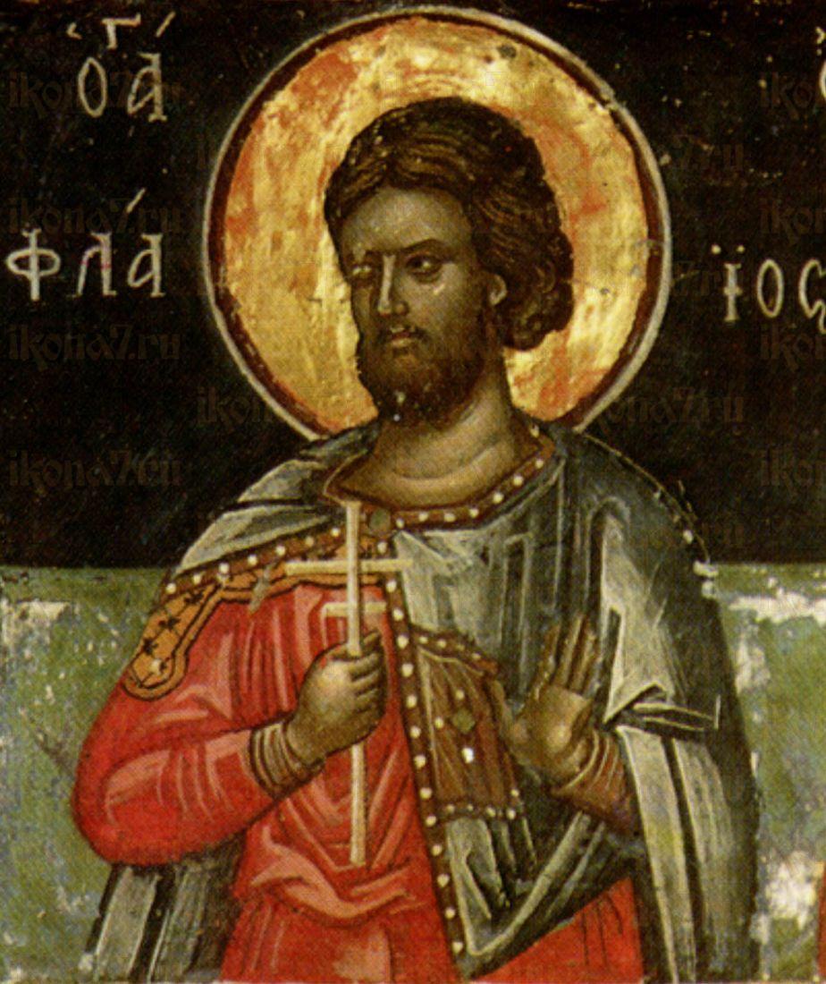 Флавий Севастийский  (рукописная икона)