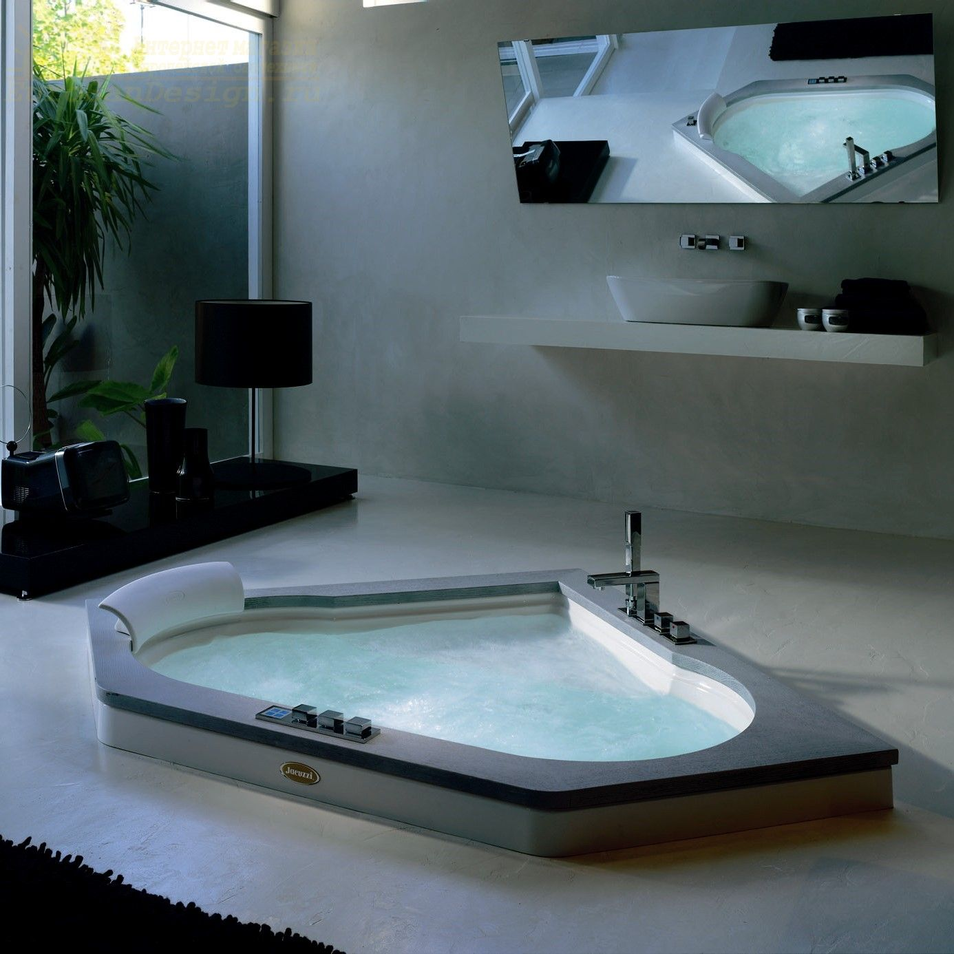 Гидромассажная ванна Jacuzzi Aura Corner 140 Stone 140x140 ФОТО