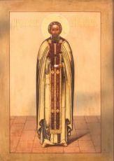 Лонгин Коряжемский (рукописная икона)