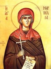 Маркелла Хиосская (рукописная икона)