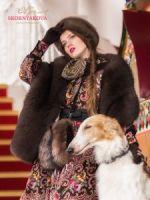 Меховой палантин купить русский стиль фото