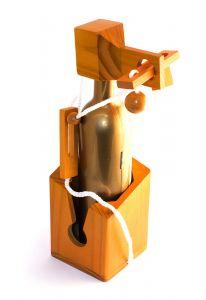 Держатель для бутылки Головоломка (деревянный)