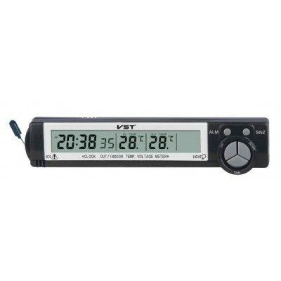 Часы авто VST7043 (будильник, темпер.)