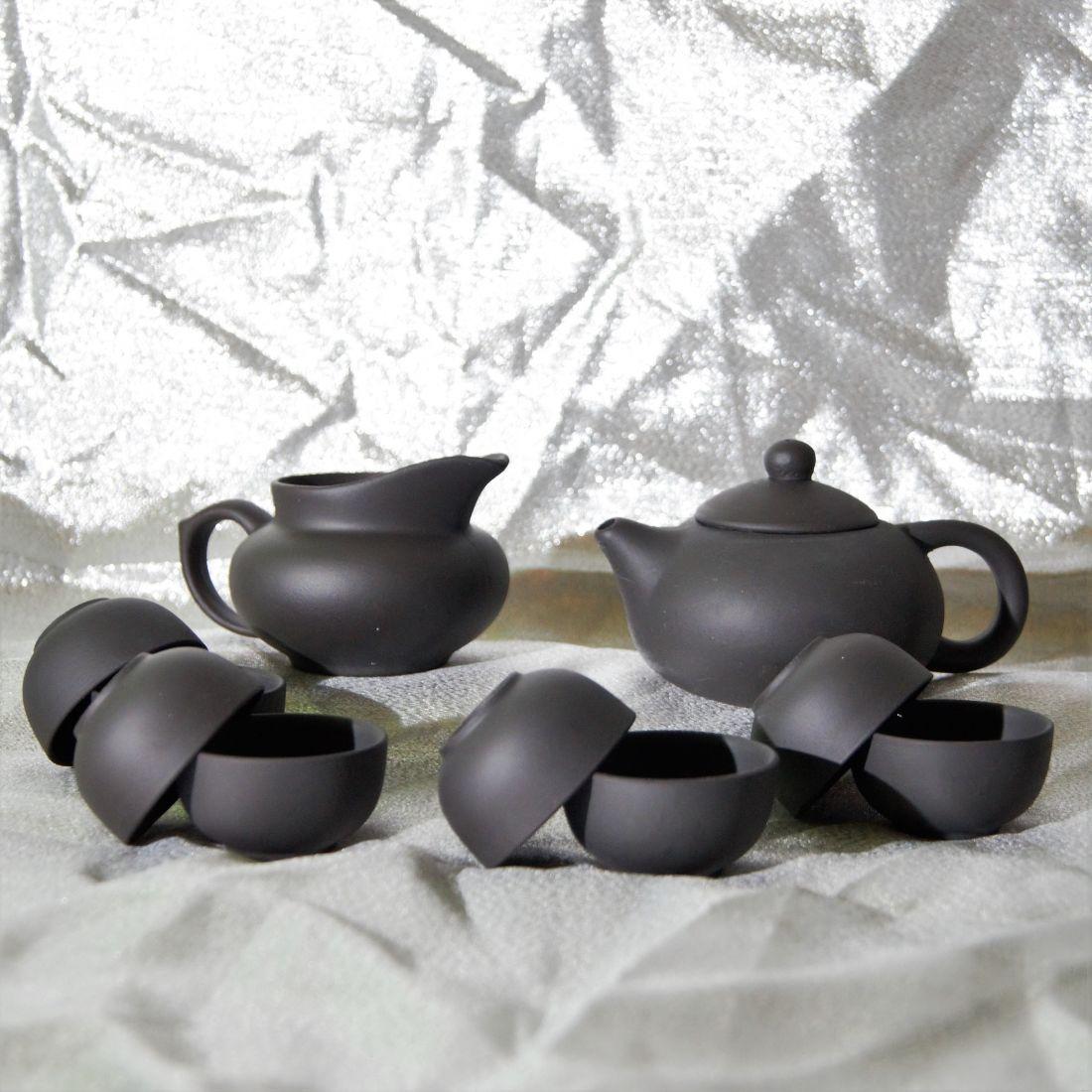 Чёрный чайный набор