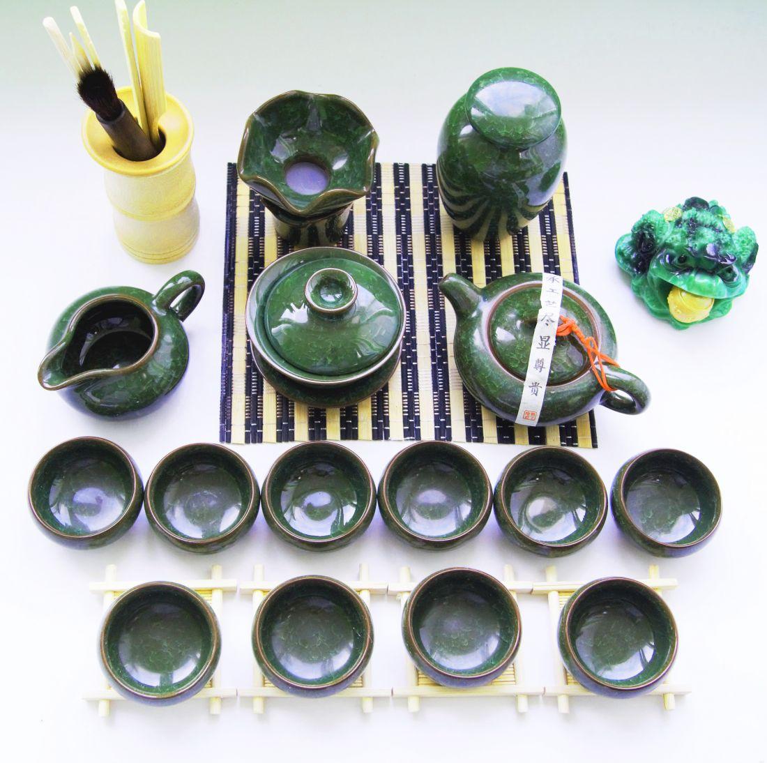 Чайный набор глина в глазури