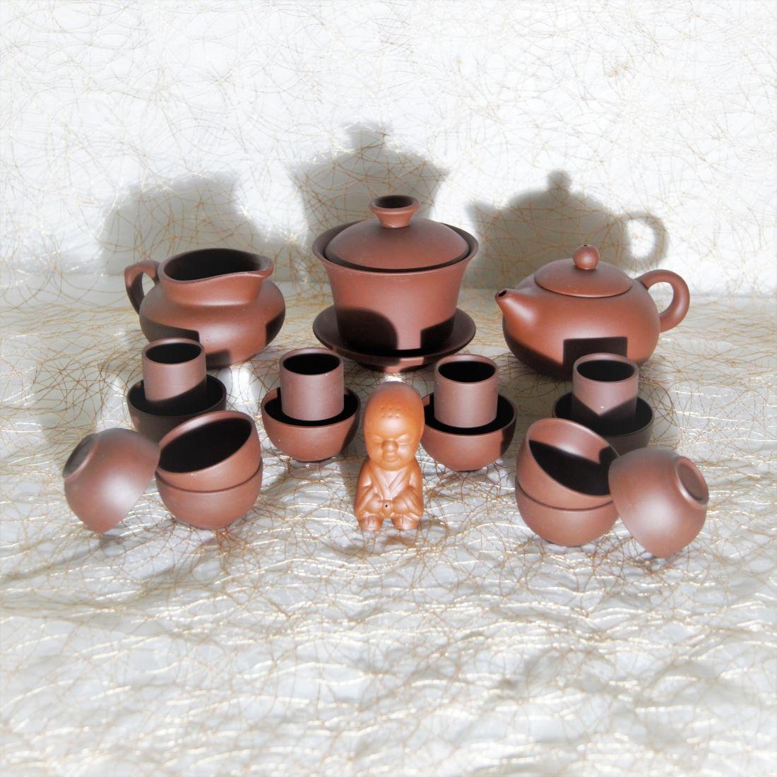коричневый чайный набор гунфу ча