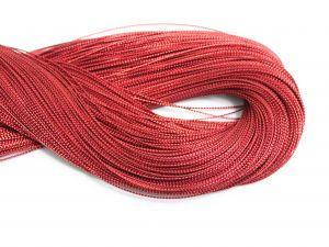 `Шнур декоративный, диаметр 1 мм, цвет красный
