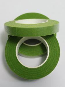 `Флористическая лента (тейп лента), ширина 12 мм, цвет зеленый