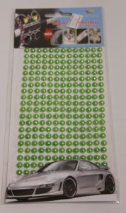`Полубусины на листе, самоклеящиеся, диаметр 6 мм, цвет зеленый