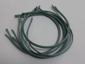 `Ободок металл обтянутый тканью 5 мм, цвет: серо-зеленый