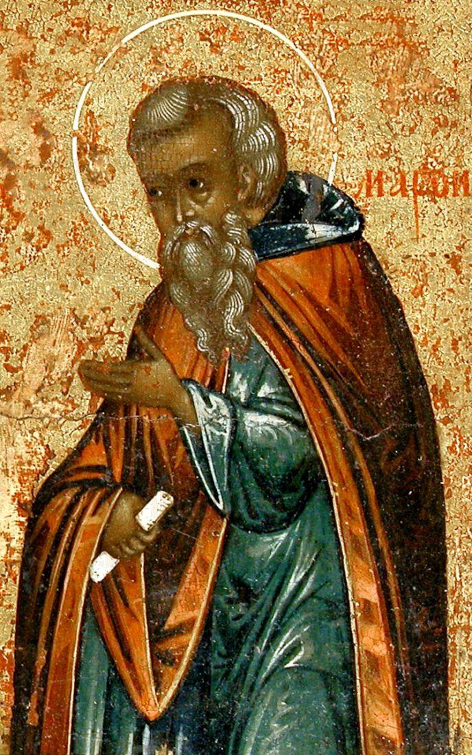Марон Сирийский (рукописная икона)