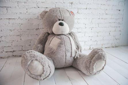 Медвежонок Теди серый 85см