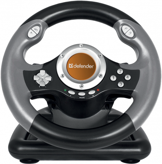 Джойстик-руль Defender Challenge Mini LE USB, мини, 10 кнопок