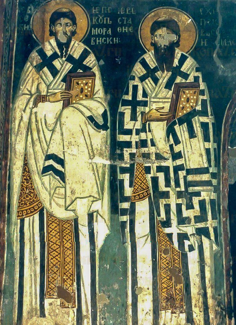 Евсевий и Евстафий Сербские (копия иконы 13 века)