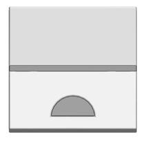 Клав. 1-я с окошком для шильдика 2 мод ABB NIE Zenit Серебро