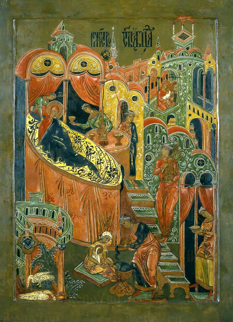 Рождество Пресвятой Богородицы (копия стариной иконы)