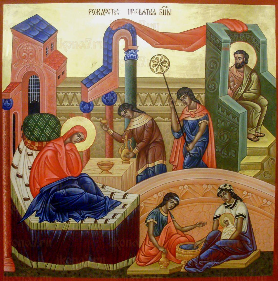 Рождество Пресвятой Богородицы (икона на дереве)