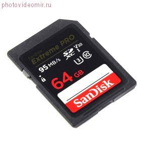 Карта памяти SDXC 64GB Sandisk Extreme Pro V30 UHS-I U3 (SDSDXXG-064G-GN4IN)