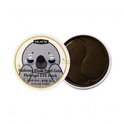 Milatte Eye Milatte Fashiony Black Pearl Gold Hydrogel Eye Patch 90g