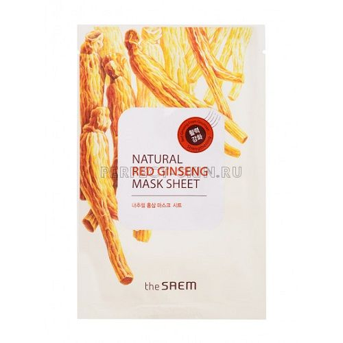 The Saem Natural Red Ginseng Mask Sheet 21ml