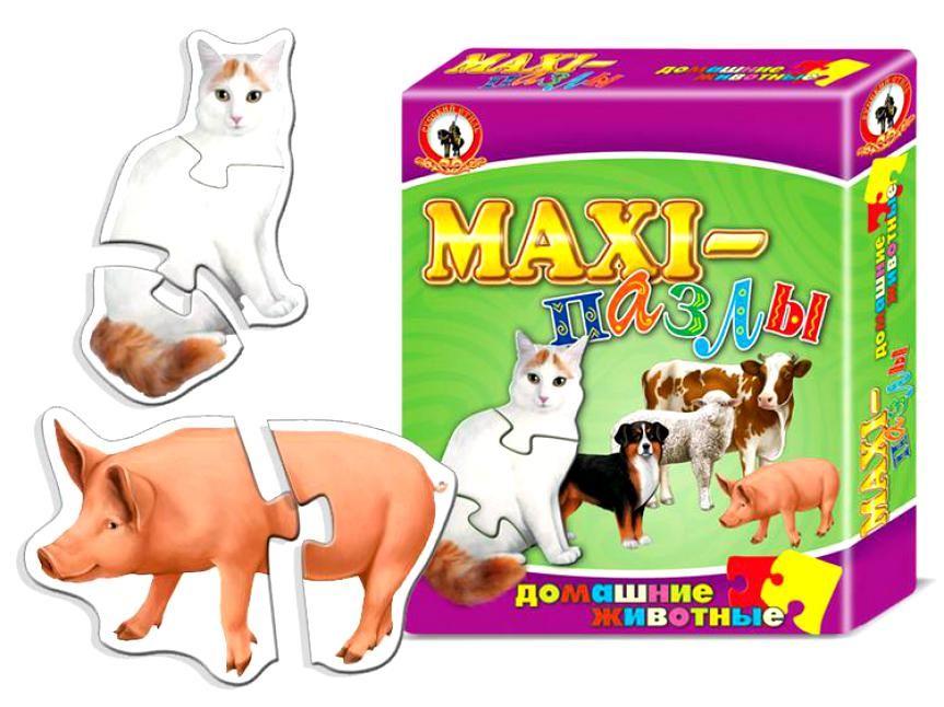 Макси-пазлы Домашние животные, 20 элементов