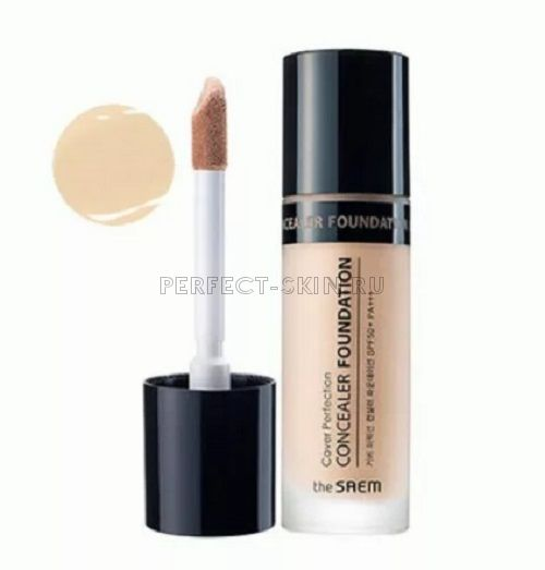 The Saem Cover Perfection Concealer Foundation 01 SPF50+/PA+++ 38g