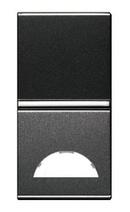 Клав.1-я с окошком для шильдика 1 мод ABB NIE Zenit Антрацит