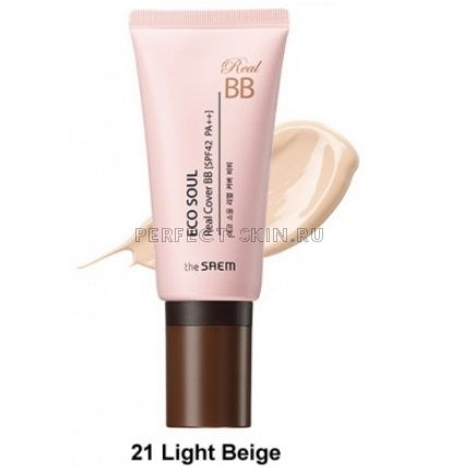 The Saem Eco Soul Real Cover Bb 21 Light Beige 45g