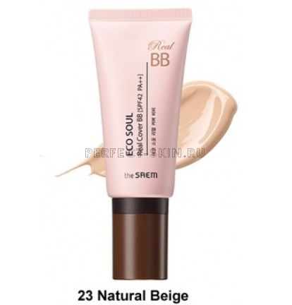 The Saem Eco Soul Real Cover Bb 23 Natural Beige 45g